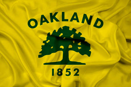 oakland: Waving Flag of Oakland, California