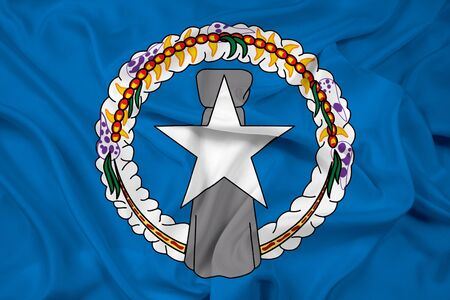 mariana: Waving Flag of Northern Mariana Islands Stock Photo