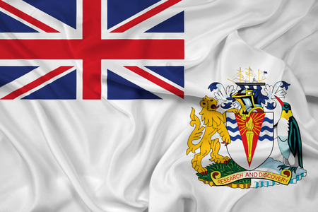 antarctic: Waving Flag of the British Antarctic Territory Stock Photo