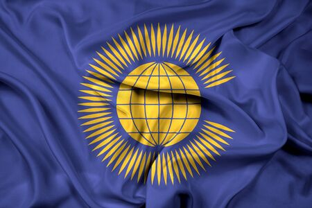 nations: Waving Flag of the Commonwealth of Nations Stock Photo
