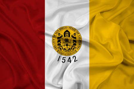 san diego: Waving Flag of San Diego, California