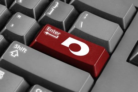 enter button: Enter button with Flag of Kumamoto, Japan