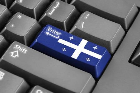 enter button: Enter button with Flag of Quebec