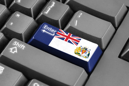 antarctic: Enter button with Flag of the British Antarctic Territory