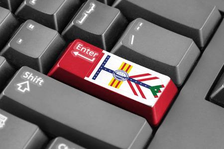 enter button: Enter button with Flag of Tampa, Florida