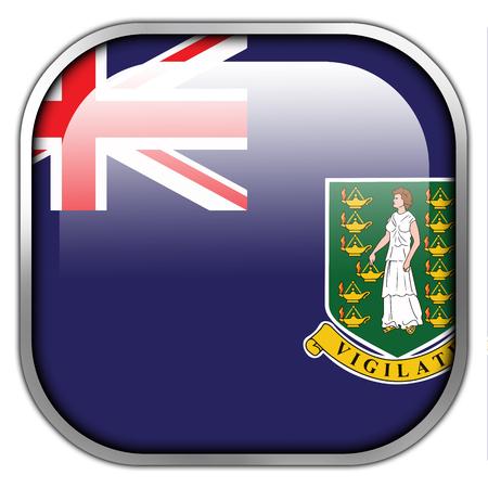virgin islands: Flag of British Virgin Islands, square glossy button