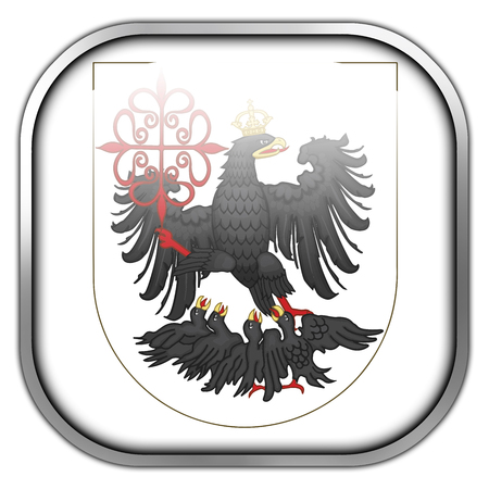 buenos: Flag of Buenos Aires, square glossy button
