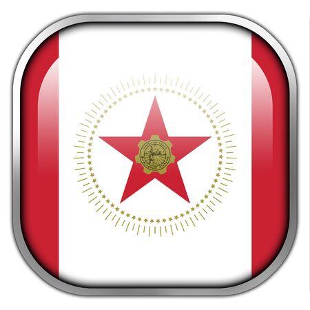 alabama flag: Flag of Birmingham, Alabama, square glossy button