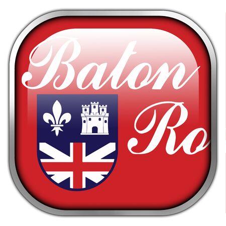 baton rouge: Flag of Baton Rouge, Louisiana, square glossy button