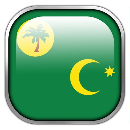 cocos: Flag of Cocos Islands, square glossy button