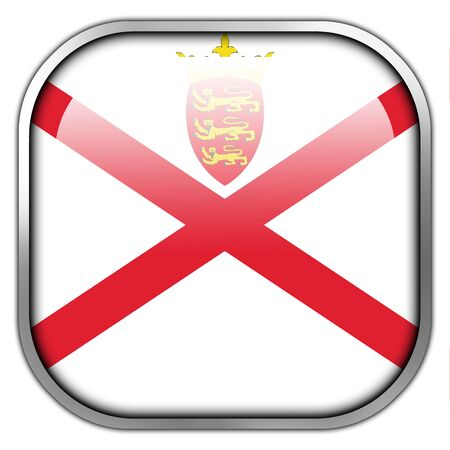 bailiwick: Flag of Jersey, square glossy button