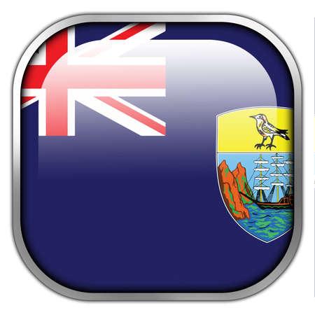 helena: Flag of Saint Helena, square glossy button