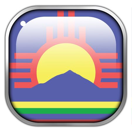 new mexico: Flag of Roswell, New Mexico, square glossy button