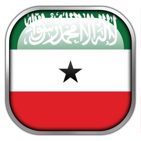 somaliland: Flag of Somaliland, square glossy button