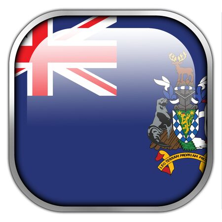 south georgia: Flag of South Georgia and the South Sandwich Islands, square glossy button Stock Photo