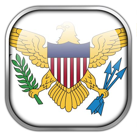 virgin islands: Flag of the U.S. Virgin Islands, square glossy button