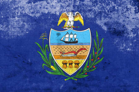allegheny: Flag of Allegheny County, Pennsylvania, USA, with a vintage and old look