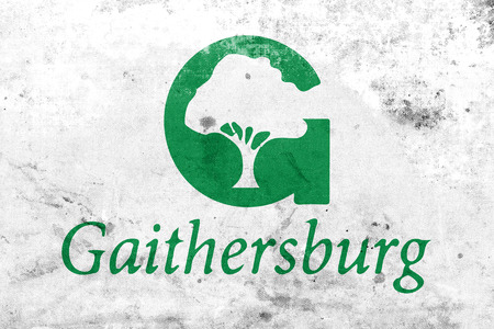 gaithersburg: Flag of Gaithersburg, Maryland, USA, with a vintage and old look
