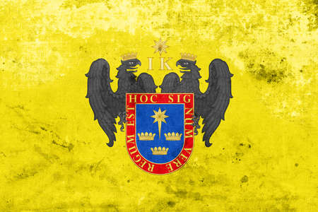 lima region: Flag of Lima, Peru, with a vintage and old look