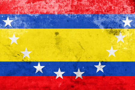 Flag of Loja Province, Ecuador, with a vintage and old look Stock Photo