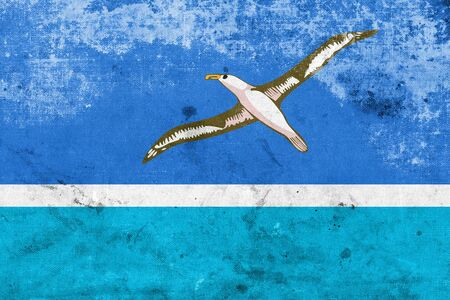 unincorporated: Flag of Midway Atoll (unofficial), with a vintage and old look