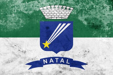 natal: Flag of Natal, Rio Grande do Norte, Brazil, with a vintage and old look