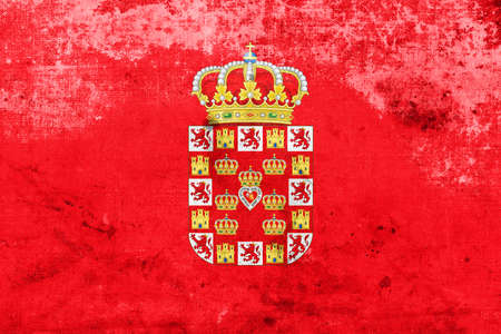 murcia: Flag of Murcia, Spain, with a vintage and old look Stock Photo