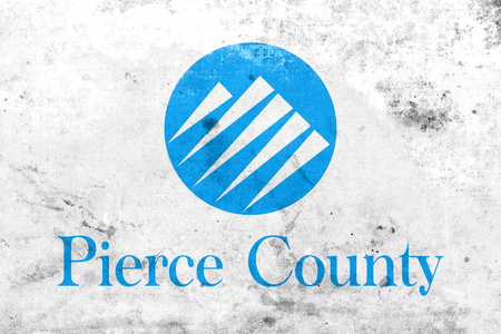 pierce: Flag of Pierce County, Washington, USA, with a vintage and old look