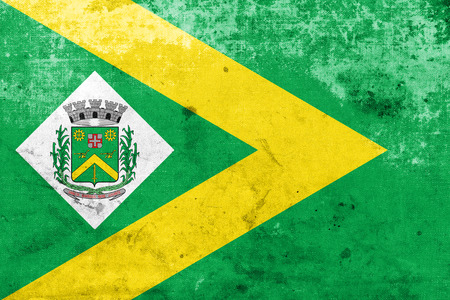 Flag of Santa Barbara dOeste, Sao Paulo, Brazil, with a vintage and old look