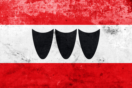 trebic: Flag of Trebic, Czechia, with a vintage and old look