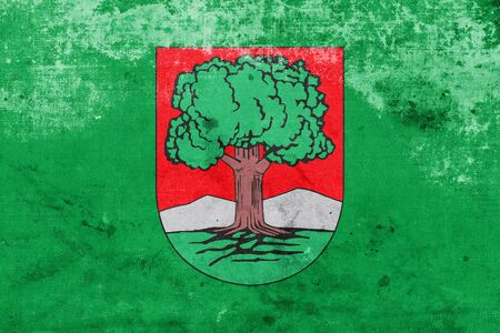 polity: Flag of Walbrzych, Poland, with a vintage and old look