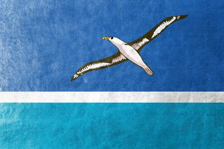 unincorporated: Flag of Midway Atoll (unofficial), painted on leather texture
