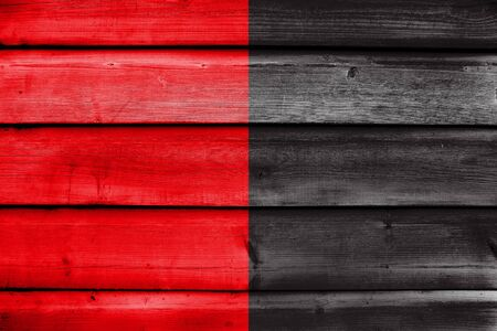 polity: Flag of Biarritz, France, painted on old wood plank background