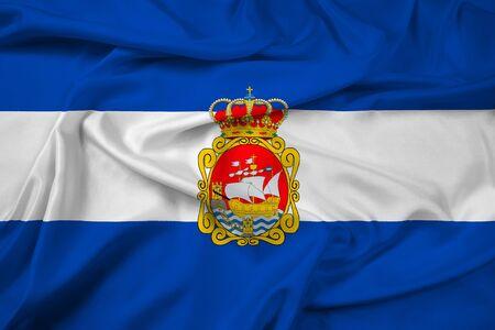 aviles: Waving Flag of Aviles, Spain