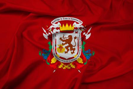 caracas: Waving Flag of Caracas, Venezuela