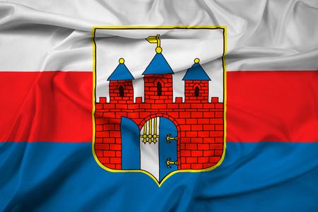 Waving Flag of Bydgoszcz, Poland