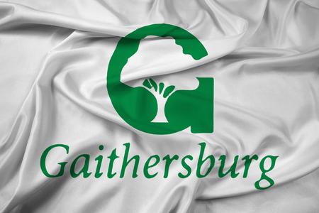 Waving Flag of Gaithersburg, Maryland, USA