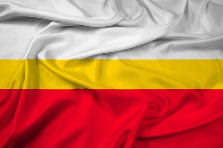 lesser: Waving Flag of Lesser Poland Voivodeship, Poland Stock Photo