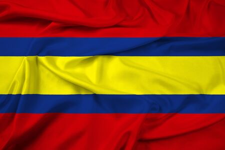 Waving Flag of Loja, capital of Loja Province, Ecuador