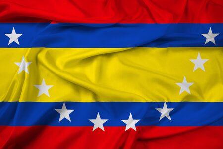 Waving Flag of Loja Province, Ecuador