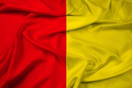 liege: Waving Flag of Liege, Belgium Stock Photo
