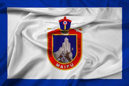 bandera chilena: Waving Flag of Maipu, Chile