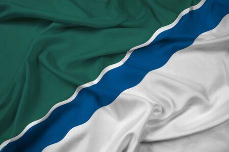 novosibirsk: Waving Flag of Novosibirsk, Russia