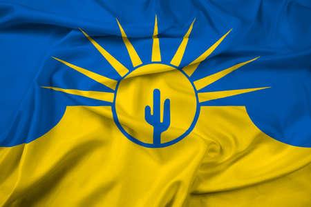mesa: Waving Flag of Mesa, Arizona, USA