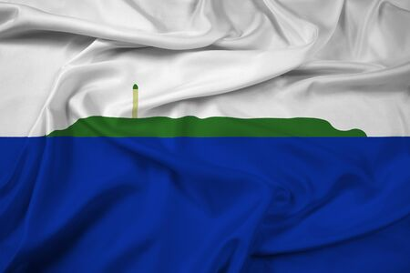 unofficial: Waving Flag of Navassa Island (unofficial, disputed) Stock Photo