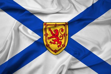 scotia: Waving Flag of Nova Scotia Province, Canada Stock Photo