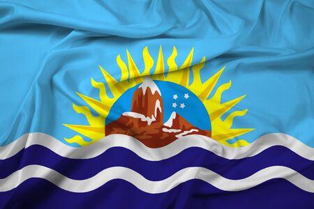 Waving Flag of Santa Cruz Province, Argentina