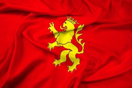 zaragoza: Waving Flag of Saragossa (Zaragoza), Spain Stock Photo