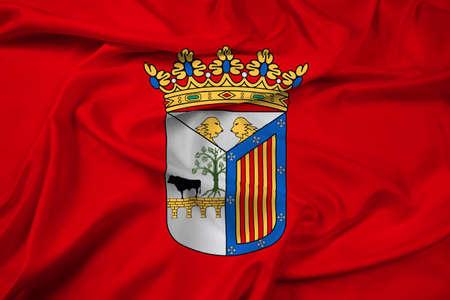 Waving Flag of Salamanca, Spain