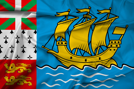 unofficial: Waving Flag of Saint Pierre and Miquelon (unofficial)